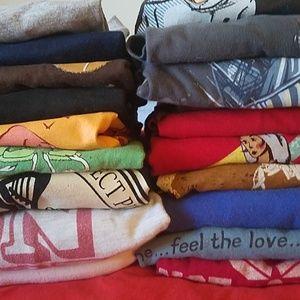 10 large shirts for 15 bucks